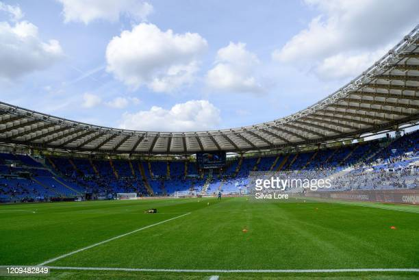 A general view of Stadio Olimpico before the Serie A match between SS Lazio and Bologna FC at Stadio Olimpico on February 29 2020 in Rome Italy