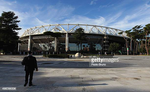 A general view of Stadio Olimpico before the Serie A match between SS Lazio and US Citta di Palermo at Stadio Olimpico on November 22 2015 in Rome...