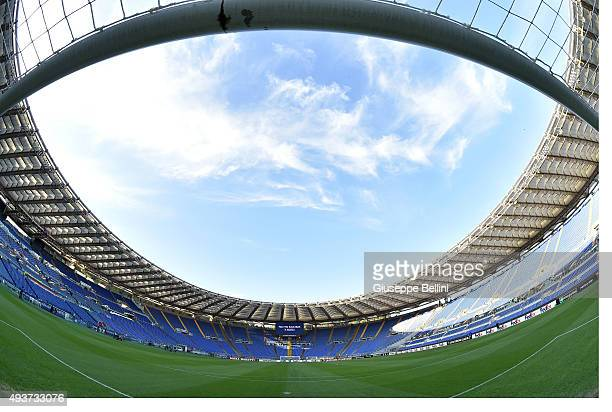 General view of Stadio Olimpico before the UEFA Europa League group G match between SS Lazio and Rosenborg BK at Stadio Olimpico on October 22 2015...