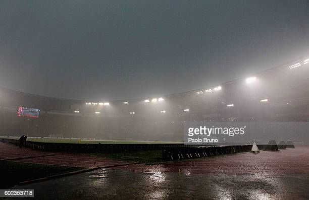 A general view of Stadio Olimpico during the Serie A match between AS Roma and UC Sampdoria at Stadio Olimpico on September 11 2016 in Rome Italy