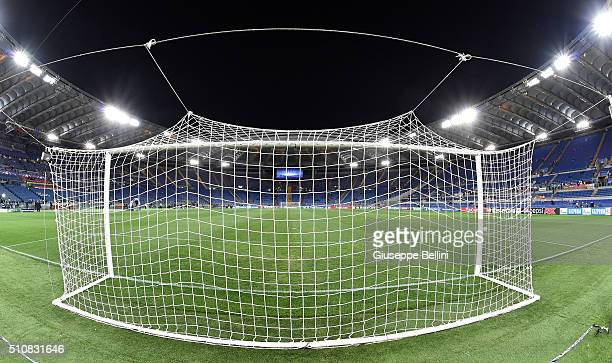 General view of Stadio Olimpico prior the UEFA Champions League Round of 16 First Leg match between AS Roma and Real Madrid CF at Stadio Olimpico on...