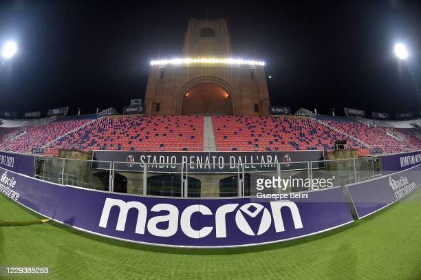 General view of Stadio Renato Dall'Ara the Serie A match between Bologna FC and Cagliari Calcio at Stadio Renato Dall'Ara on October 31, 2020 in...