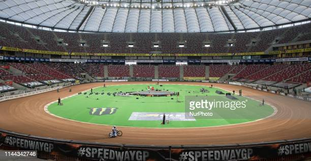 General view of Stadion Narodowy during FIM Speedway Grand Prix Of Poland Training in Warsaw Poland on 17 May 2019