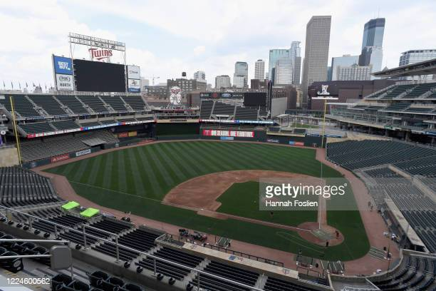 General view of stadium as the Minnesota Twins begin summer workouts at Target Field on July 3, 2020 in Minneapolis, Minnesota.