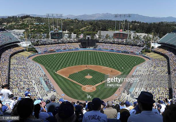 General View of stadium at Dodger Stadium on May 1 2011 in Los Angeles California