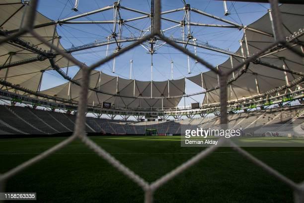 General view of stadium before a match between Estudiantes and Aldosivi as part of Superliga Argentina 2019/20 at Diego Maradona StadiumEstadio...