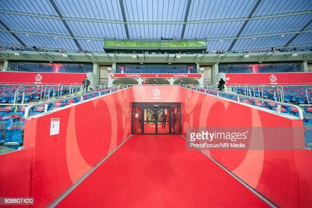 General view of stadium before international friendly match between Poland and Korea Republic at Slaski Stadium on March 27 2018 in Chorzow Poland