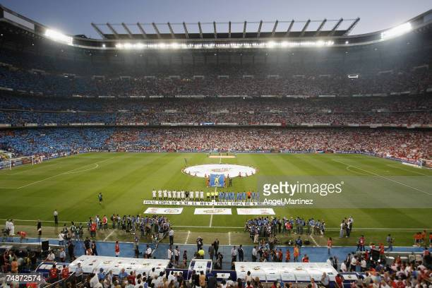 A general view of stadium before the King's Cup Final match between Sevilla and Getafe at the Santiago Bernabeu stadium on June 23 2007 in Madrid...