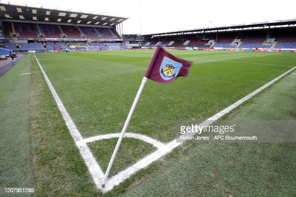 General view of stadium before the Premier League match between Burnley FC and AFC Bournemouth at Turf Moor on February 22, 2020 in Burnley, United...
