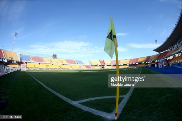 A general view of stadium before the Serie A match between US Lecce and AC Milan at Stadio Via del Mare on June 22 2020 in Lecce Italy