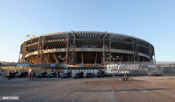 A general view of stadium before the UEFA Champions League group F match between SSC Napoli and Manchester City at Stadio San Paolo on November 1...