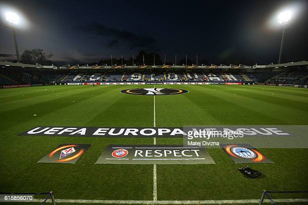 General view of stadium before the UEFA Europa League match between FC Slovan Liberec and ACF Fiorentina at U Nisy Stadium on October 20, 2016 in...