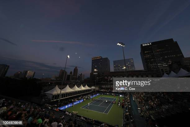 A general view of stadium court during the BBT Atlanta Open at Atlantic Station on July 24 2018 in Atlanta Georgia