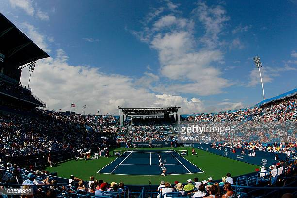 General view of Stadium Court during the match between Mardy Fish and Andy Roddick during Day 6 of the Western & Southern Financial Group Masters at...