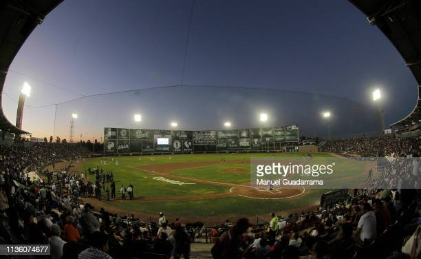 General view of stadium during a match between Algodoneros Union Laguna and Tecolotes de Dos Laredos as part of the Liga Mexicana de Beisbol 2019 at...