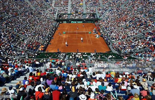 A general view of stadium during day two of the semi final Davis Cup between Spain and the United States at the Parque Hermanos Castro on September...