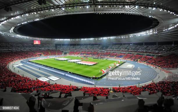 General view of stadium during international friendly match between Poland and Korea Republic at Slaski Stadium on March 27 2018 in Chorzow Poland