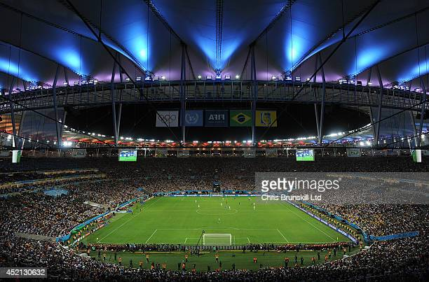 A general view of stadium during the 2014 World Cup Final match between Germany and Argentina at Maracana Stadium on July 13 2014 in Rio de Janeiro...