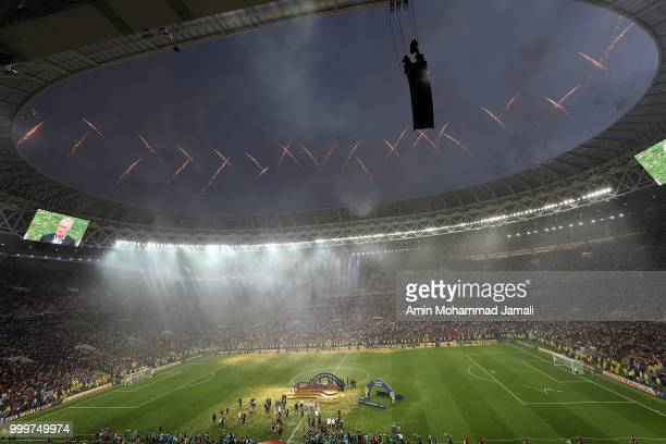 general view of Stadium during the 2018 FIFA World Cup Russia Final between France and Croatia at Luzhniki Stadium on July 15 2018 in Moscow Russia