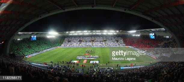 A general view of stadium during the 2020 UEFA European Championships group J qualifying match between Italy and Finland at Stadio Friuli on March 23...