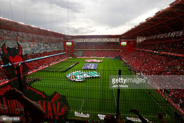 General view of stadium during the Final second leg match between Toluca and Santos Laguna as part of the Torneo Clausura 2018 at Nemesio Diez...