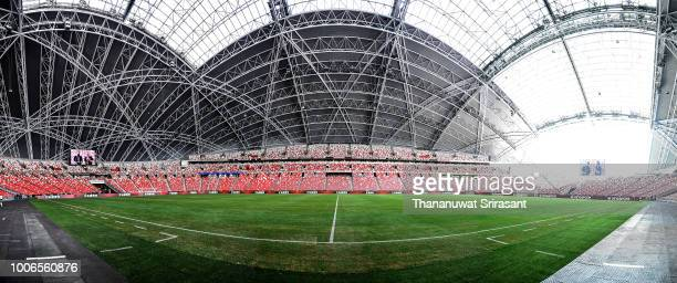A general view of stadium during the International Champions Cup match between Arsenal and Paris Saint Germain at the National Stadium on July 28...