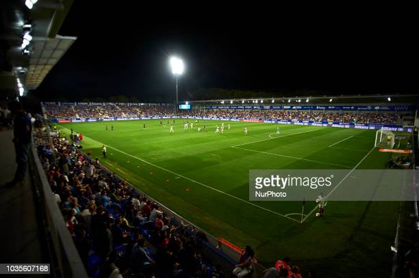 General view of stadium during the match between SD Huesca against Rayo Vallecano at Alcoraz Stadium in Huesca Spain on September 14 2018