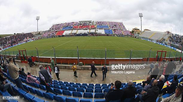 General view of stadium during the Serie A match between FC Crotone and SSC Napoli at Stadio Comunale Ezio Scida on October 23, 2016 in Crotone,...