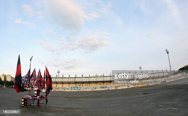General view of stadium during the Serie B match between FC Crotone and AC Cesena at Stadio Comunale Ezio Scida on August 31, 2013 in Crotone, Italy.