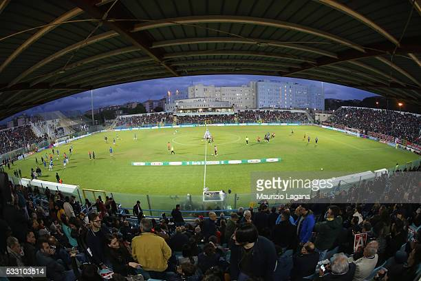 General view of stadium during the Serie B match between FC Crotone and Virtus Entella at Stadio Comunale Ezio Scida on May 20, 2016 in Crotone,...
