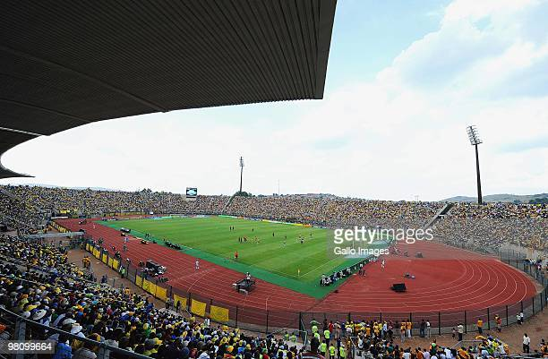 A general view of Stadium is captured during the Telkom Knockout Cup Quarter Final match between Mamelodi Sundowns and Kaizer Chiefs on March 28 2010...