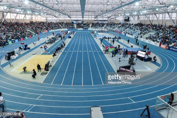 General View of Stadium Miramas Metropole during the French Championship Athletic Indoor on February 17 2019 in Miramas France