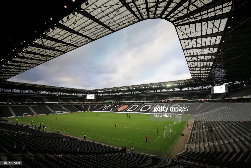 Milton Keynes Dons v Charlton Athletic - Carabao Cup First Round : News Photo