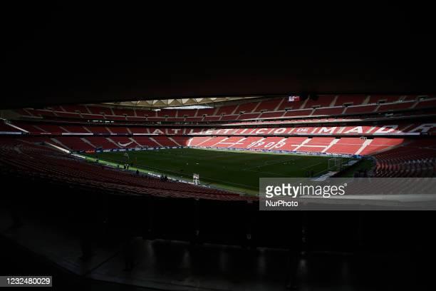General view of stadium prior the La Liga Santander match between Atletico de Madrid and SD Huesca at Estadio Wanda Metropolitano on April 22, 2021...