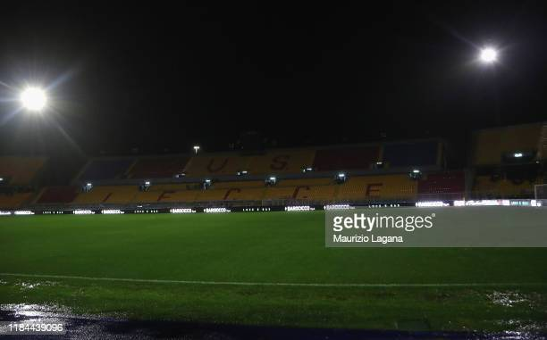 A general view of stadium prior the Serie A match between US Lecce and Cagliari Calcio at Stadio Via del Mare on November 24 2019 in Lecce Italy