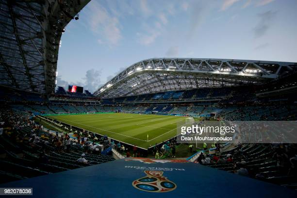 General View of stadium prior to the 2018 FIFA World Cup Russia group F match between Germany and Sweden at Fisht Stadium on June 23 2018 in Sochi...