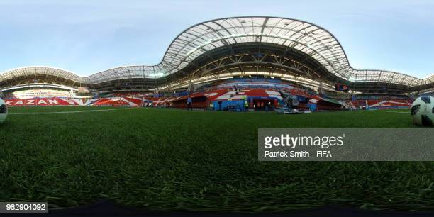 General view of stadium prior to the 2018 FIFA World Cup Russia group H match between Poland and Colombia at Kazan Arena on June 24 2018 in Kazan...