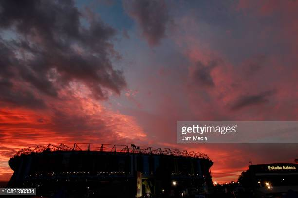 General view of stadium prior to the final first leg match between America and Cruz Azul as part of the Torneo Apertura 2018 Liga MX at Azteca...