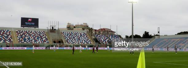 General view of stadium the Serie A match between FC Crotone and Bologna FC at Stadio Comunale Ezio Scida on March 20, 2021 in Crotone, Italy.