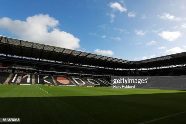 A general view of StadiumMK before the Sky Bet League One match between Milton Keynes Dons and Oldham Athletic at StadiumMK on October 21 2017 in...