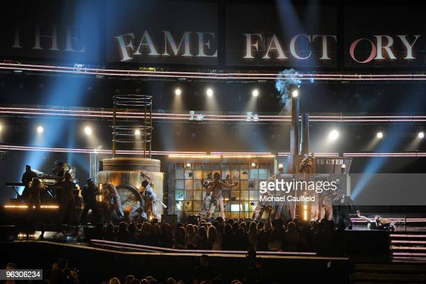 General view of stage before Lady Gaga performance at the 52nd Annual GRAMMY Awards held at Staples Center on January 31 2010 in Los Angeles...