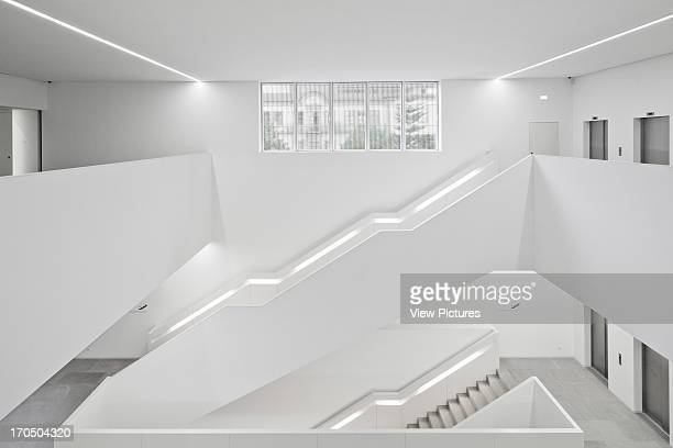General view of stair area from first floor Platform for Arts and Creativity Cultural Centre Europe Portugal PitAígoras Arquitectos