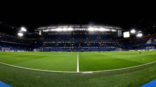 A general view of Stamford Bridge ahead of the Premier League match between Chelsea FC and Manchester United at Stamford Bridge on February 17 2020...