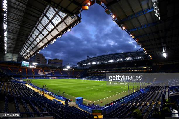 General view of Stamford Bridge ahead of the Premier League match between Chelsea and West Bromwich Albion at Stamford Bridge on February 12 2018 in...