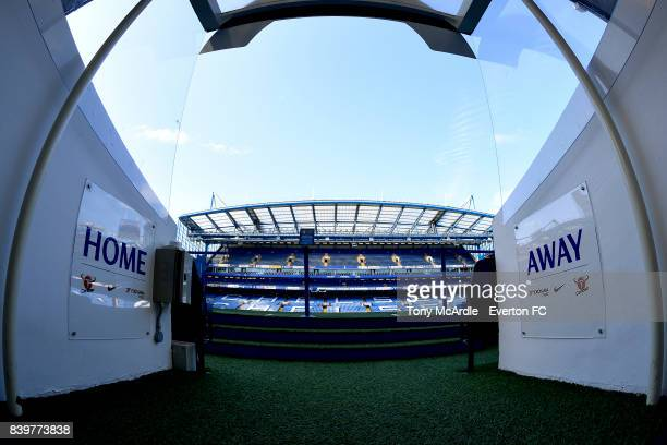 A general view of Stamford Bridge before the Premier League match between Chelsea and Everton at Stamford Bridge on August 27 2017 in London England