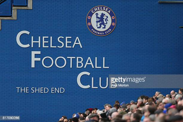 General view of Stamford Bridge during the Barclays Premier League match between Chelsea and West Ham at Stamford Bridge on March 19 2016 in London...