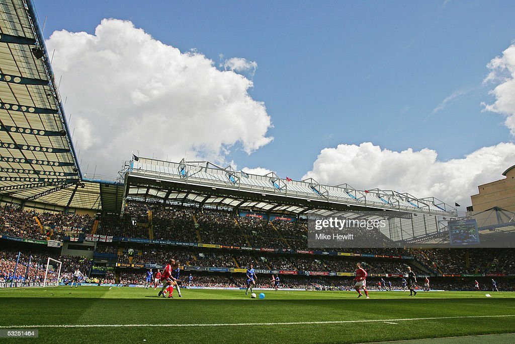 A general view of Stamford Bridge during the Barclays Premiership match between Chelsea and Charlton at Stamford Bridge on May 7, 2005 in London, England.
