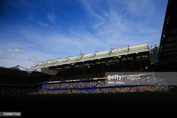 A general view of Stamford Bridge during the Premier League match between Chelsea FC and Cardiff City at Stamford Bridge on September 15 2018 in...