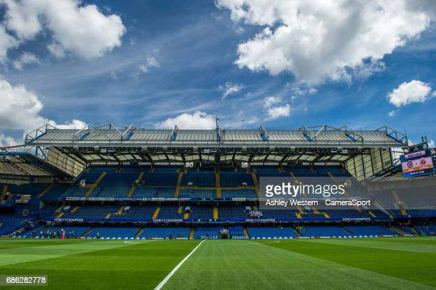 A general view of Stamford Bridge home of Chelsea during the Premier League match between Chelsea and Sunderland at Stamford Bridge on May 21 2017 in...