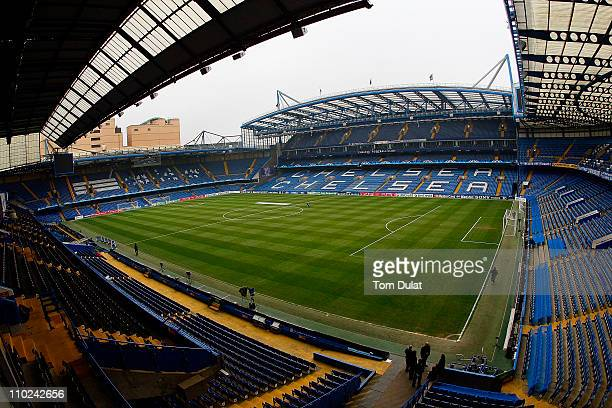 A general view of Stamford Bridge home of Chelsea Football Club on March 16 2011 in London England